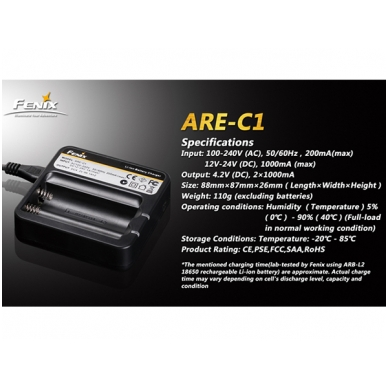 Fenix akumuliatorių kroviklis ARE-C1 4
