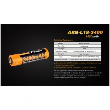 Fenix akumuliatorius 18650 ARB-L18-3400 3