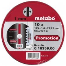 Rinkinys pjovimo diskų plienui 10 vnt. 125x1,0x22,2