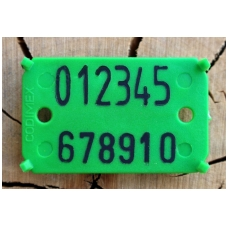 "Etiketės su dvigubu užrašu ""CODIMEX"" (1000 vnt.)"