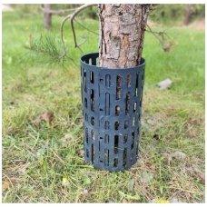 Medžių kamienų apsauga Treemex šienaujant